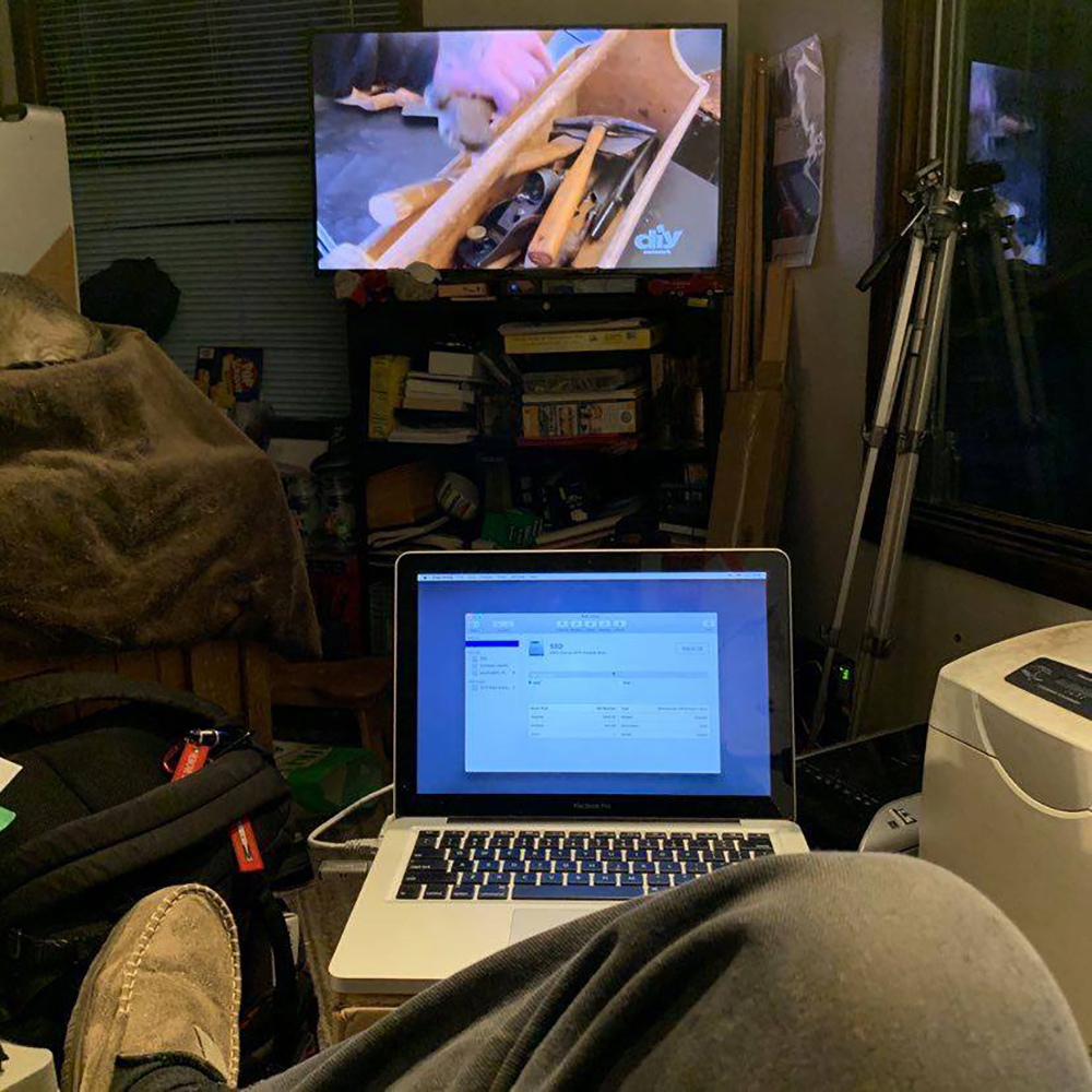 "Watching DIY, updating the MacBook Pro to SSD, doing taxes, waitin for the snow to hit and generally chillaxin."" - Carl Hansen"