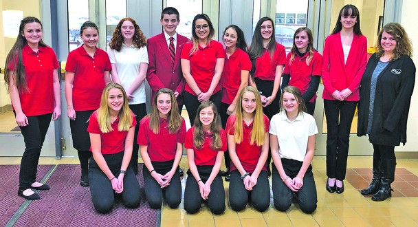 The Custer Family, Career and Community Leaders of America chapter attended the Region I FCCLA meeting in Rapid City Jan. 29. From left, back, are Hailey Hislop, Sonja Olson, Olivia Wilkins, Remington Miklos, Kelby Hicks, Nancy Falkenburg Brown, Ryken Falkenburg Brown, Shaylee Gramkow, Ciara Thompson, advisor Tiffany Newman; front, Eva Studt, Rachel Miklos, Hailee Graf, Abby Studt and Payton Noem.