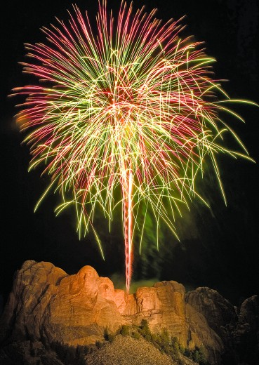 The state has taken safety measures to try to ensure the fireworks at Mount Rushmore July 3 can be held without incident. Some say having the show presents a fire danger and can be detrimental to the environment. [South Dakota Department of Tourism Photo]