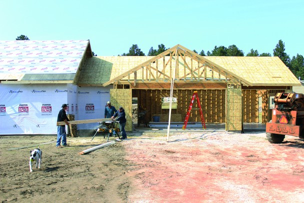 Business has been booming in Custer for both realtors and contractors, such as PDQ Construction out of Hill City, shown here working on new home construction in Boot Hill. Realtors say low interest rates, COVID-19 and political climate are all factors in people fleeing some metropolitan areas and certain states and flocking to the Black Hills.